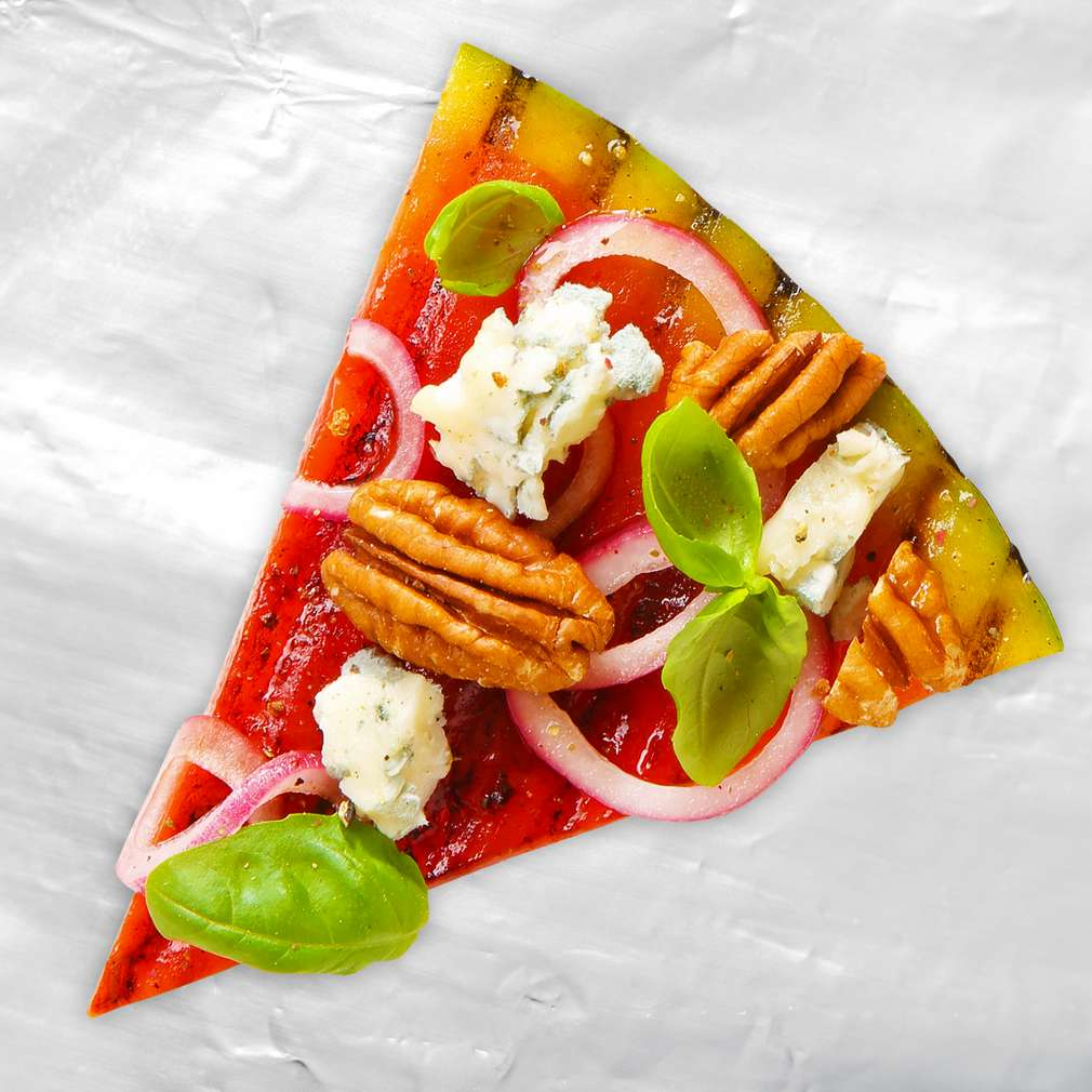 Abbildung des Rezepts Wassermelonenpizza vom Grill