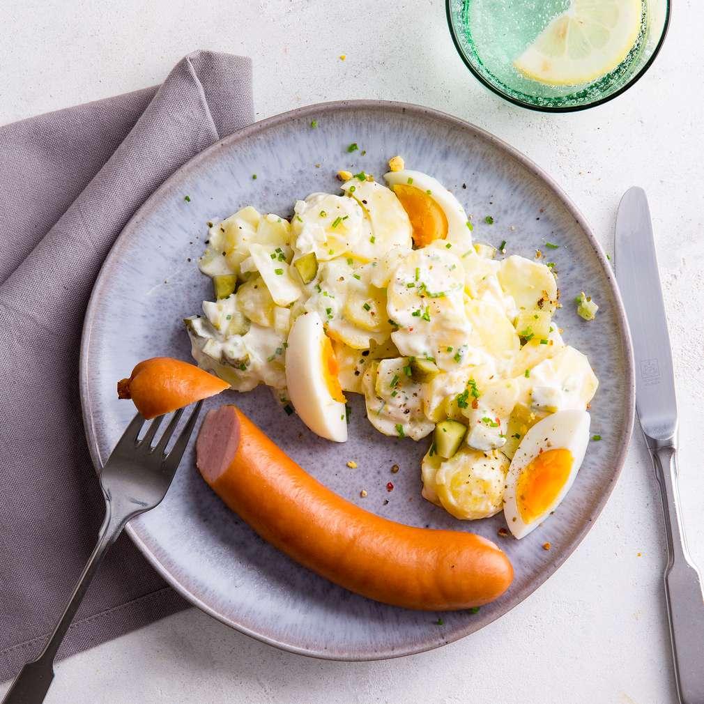 Abbildung des Rezepts Kartoffelsalat mit Würstchen