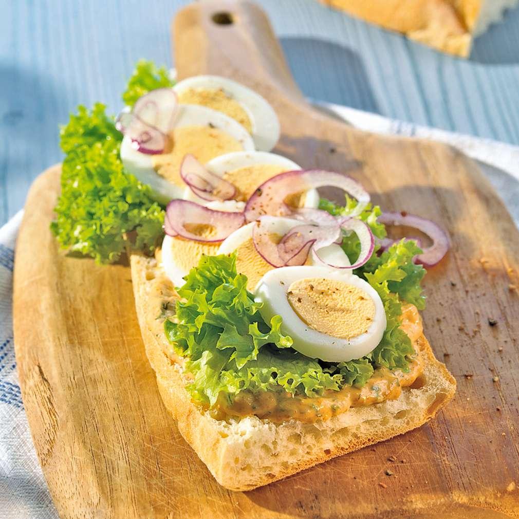 Zobrazenie receptu Bageta s bylinkovou nátierkou a vajíčkom