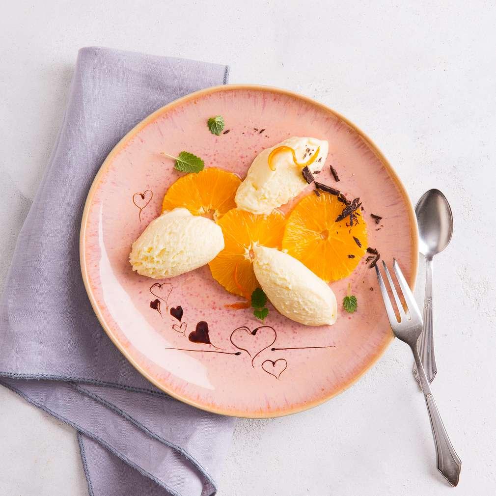 Abbildung des Rezepts Orangen-Marzipanmousse