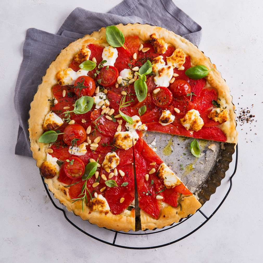 Abbildung des Rezepts Tomaten-Ziegenkäse-Tarte