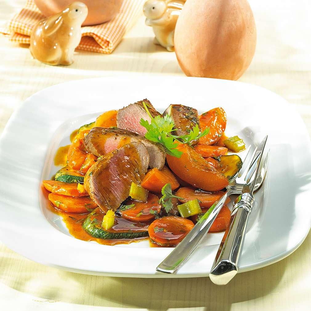 Zobrazit Jehněčí pečeně s šafránovou zeleninou receptů