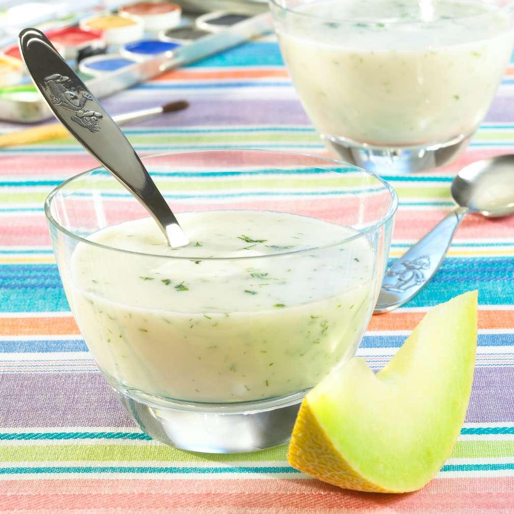 Zobrazit Studená melounová polévka s jogurtem receptů