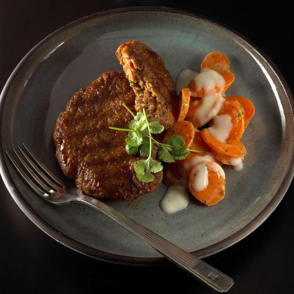 Zobrazit Karbanátky s dušenou mrkví receptů
