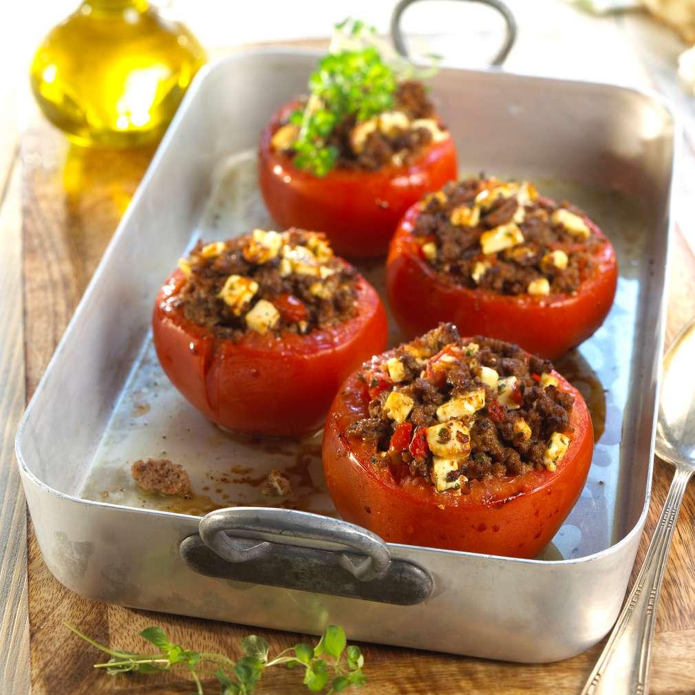 Abbildung des Rezepts Gefüllte Tomaten mit Hackfleisch und Feta
