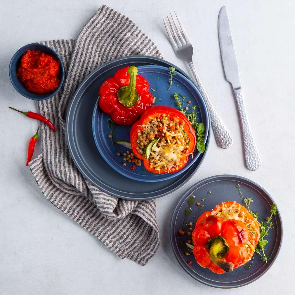 Abbildung des Rezepts Pikante Paprika mit Buchweizen
