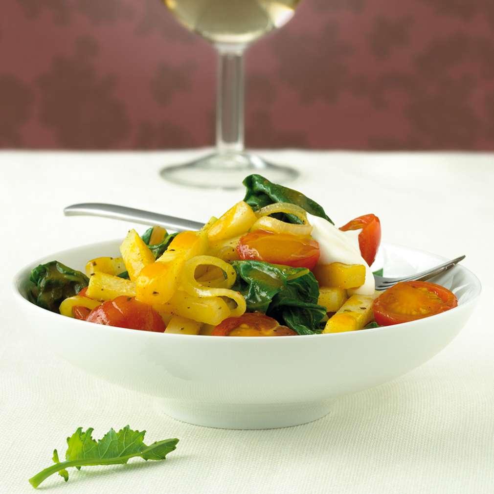 Abbildung des Rezepts Kohlrabi-Curry mit Mangold