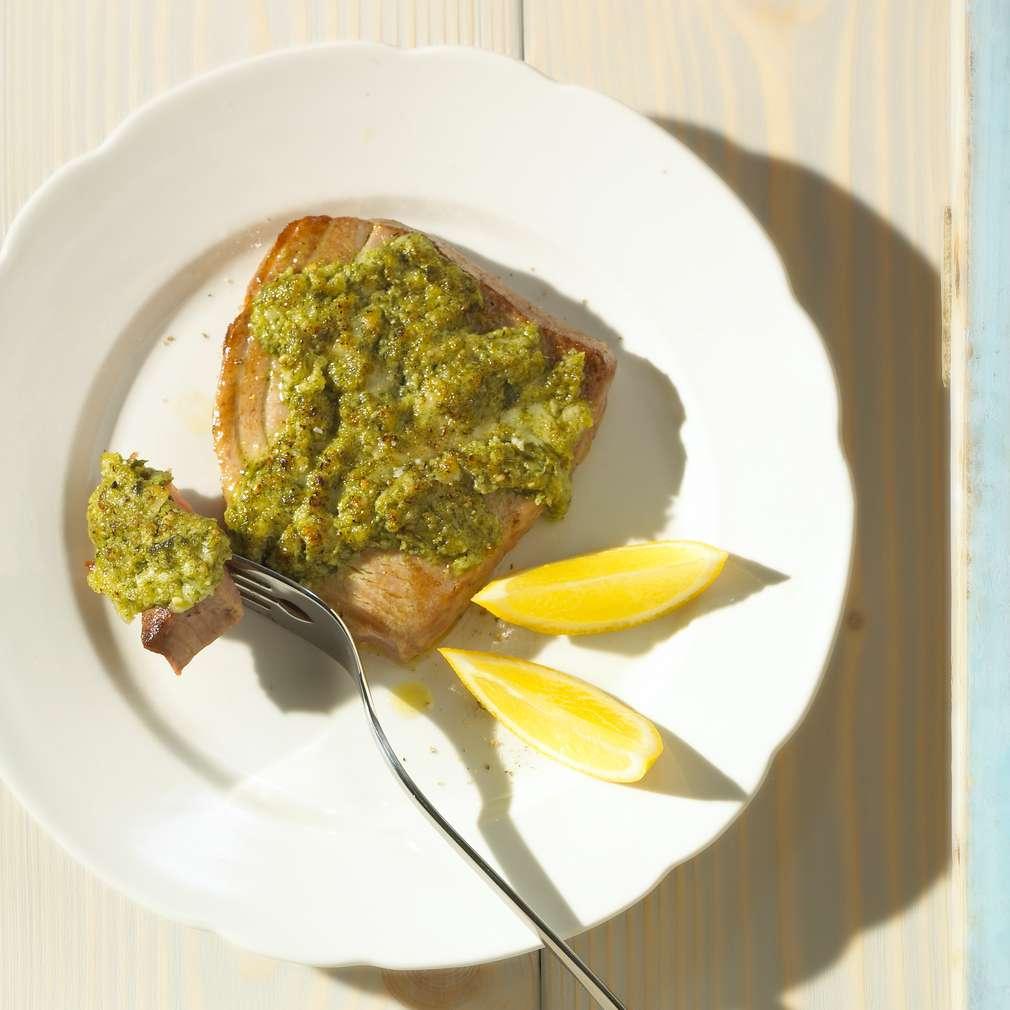 Abbildung des Rezepts Thunfisch mit Estragon-Pesto