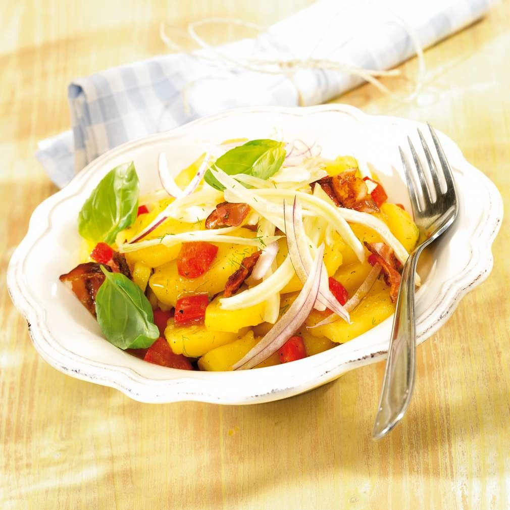 Abbildung des Rezepts Fenchel-Kartoffelsalat mit Speck