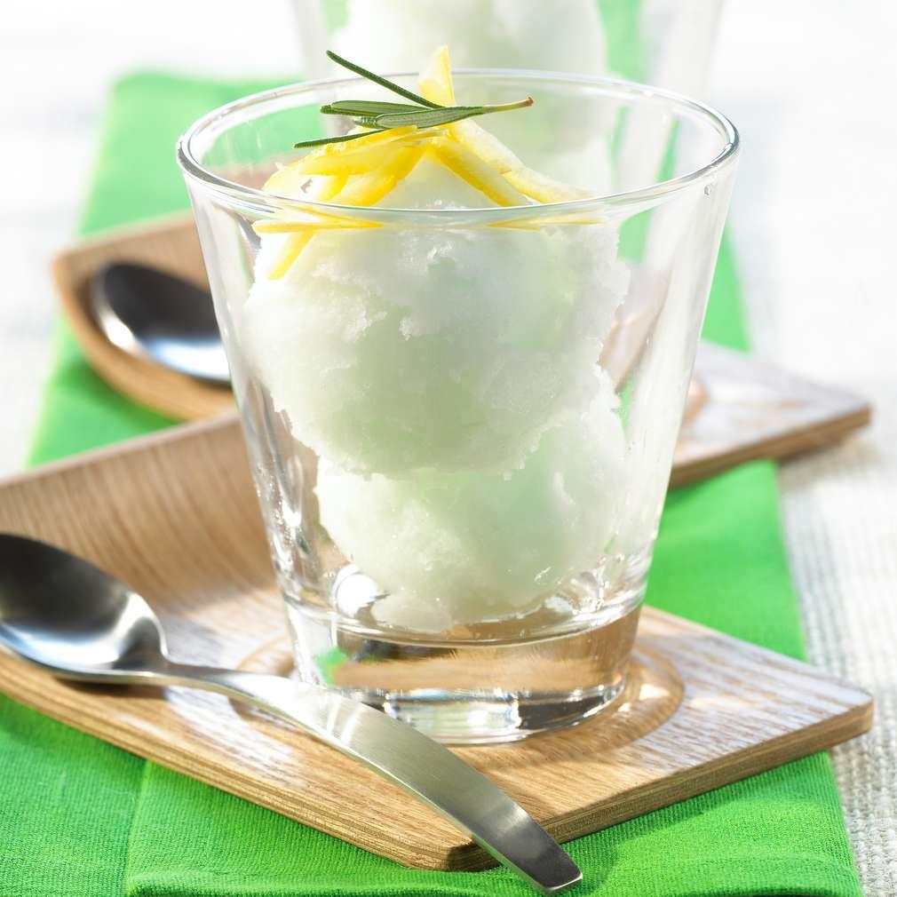 Zobrazit Citronový sorbet s rozmarýnem receptů