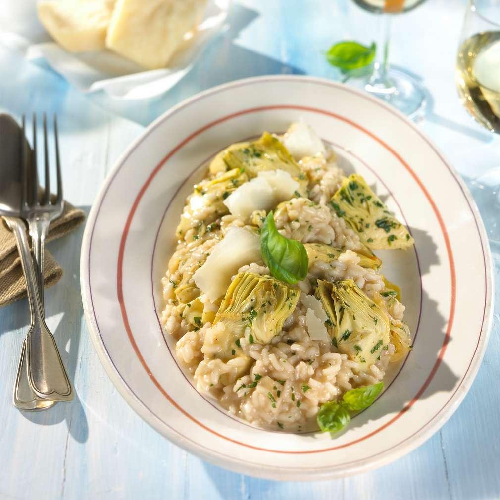 Zobrazit Středomořské risotto s artyčoky receptů
