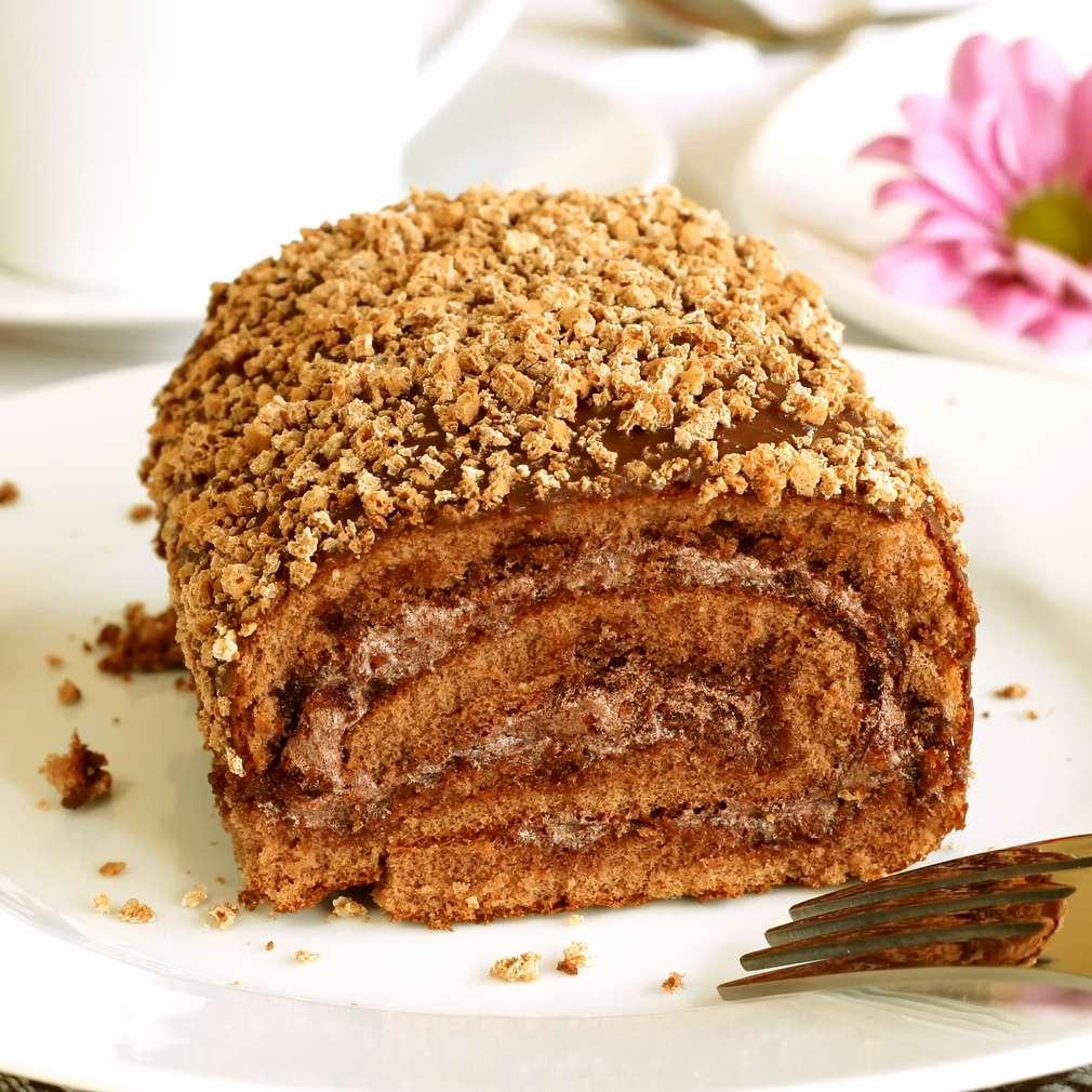 Imaginea rețetei Ruladă cu ciocolată și alune
