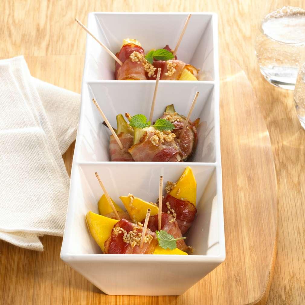 Zobrazit Tropické ovoce ve slanině receptů
