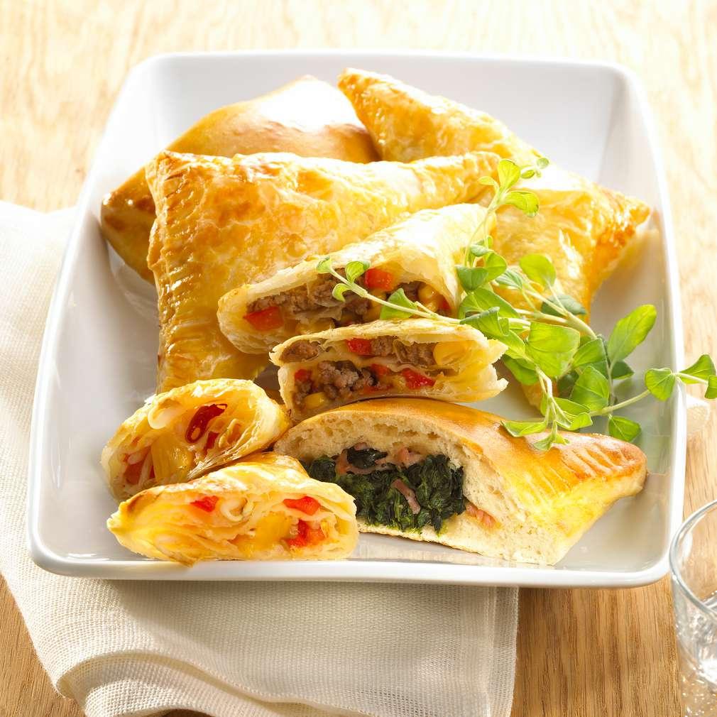 Zobrazit Pikantní masové taštičky z listového těsta receptů