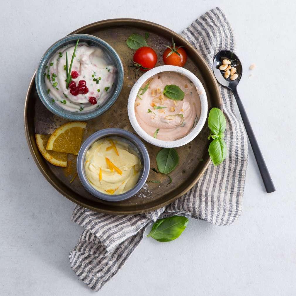 Zobrazenie receptu Tri druhy jogurtového dipu