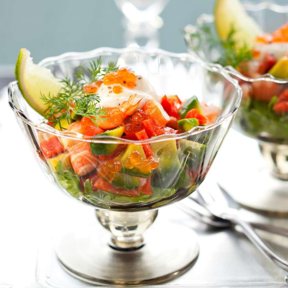 Imaginea rețetei Salată de creveți și avocado