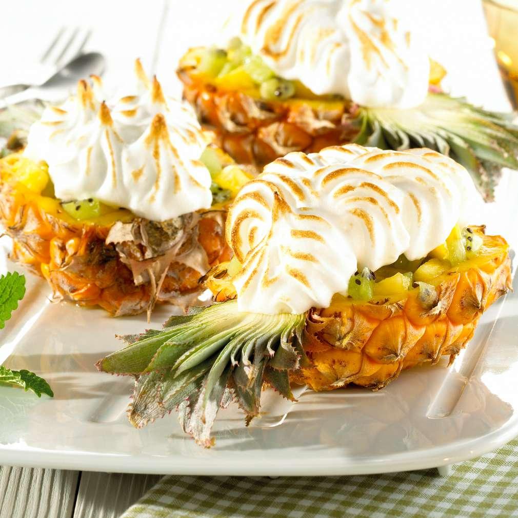 Zobrazit Gratinovaný ananas s kokosovou pusinkou receptů