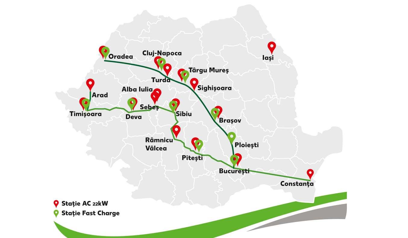 Statii de incarcare Kaufland Romania