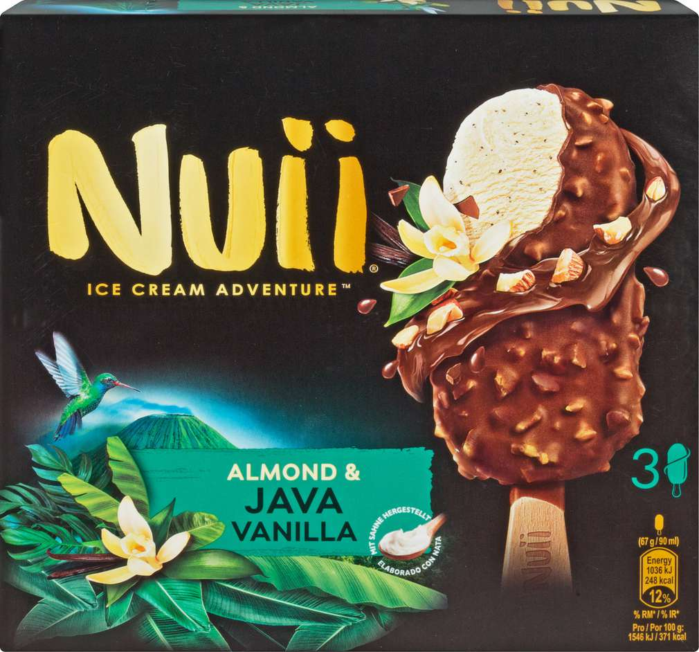 Abbildung des Sortimentsartikels Nuii Almond & Java Vanilla 3x90ml