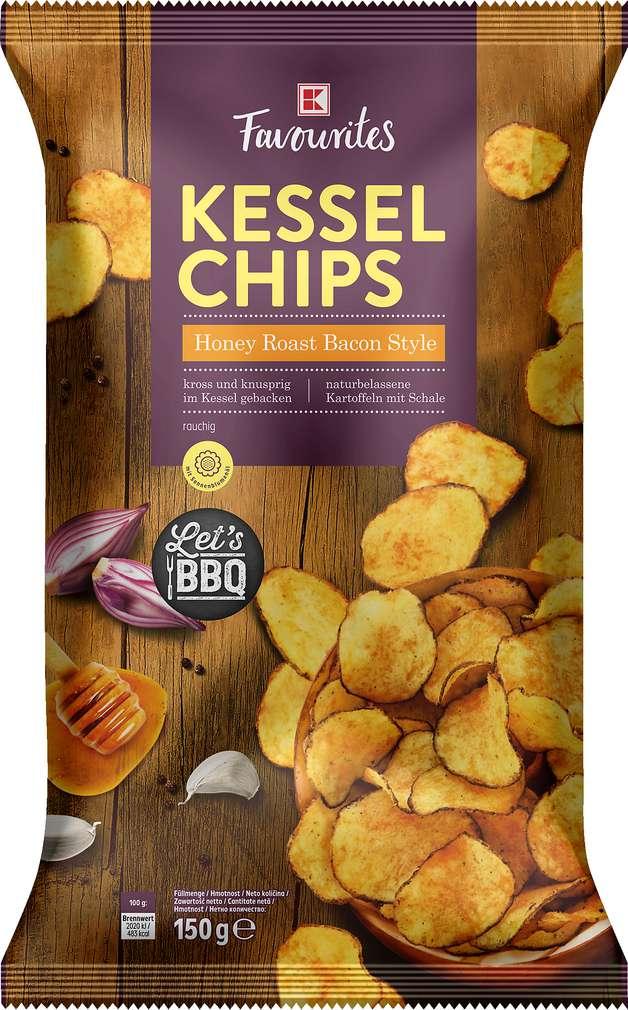 Abbildung des Sortimentsartikels K-Favourites Trad. Baked Chips Honey Roast Bacon 150g