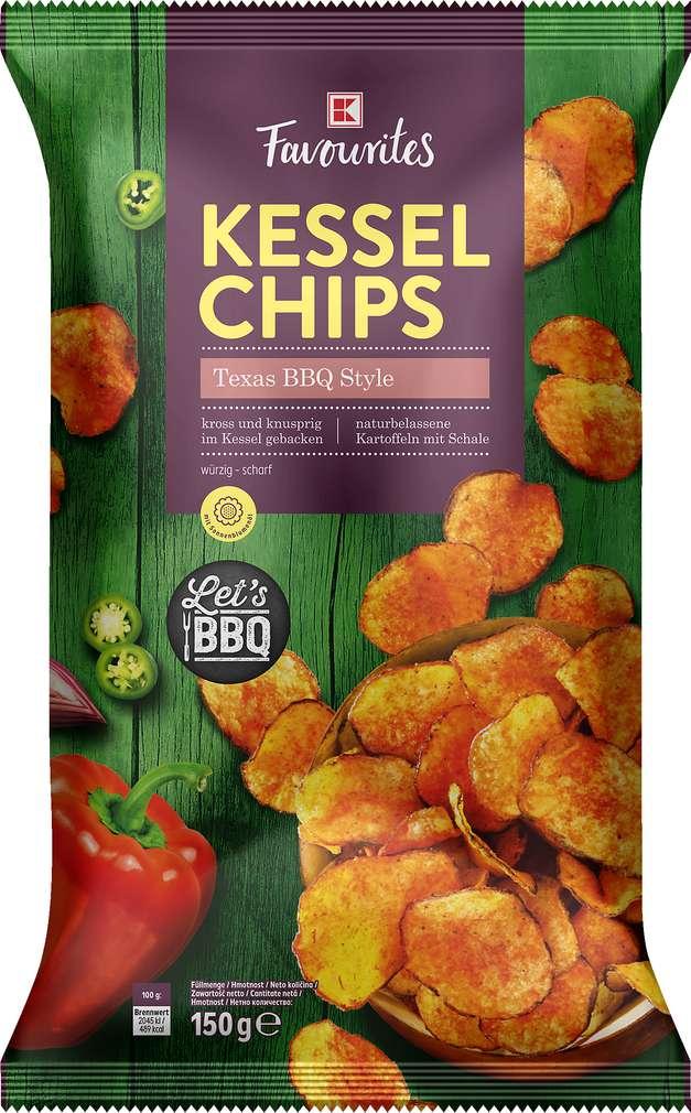 Abbildung des Sortimentsartikels K-Favourites Kesselchips Texas Style 150g