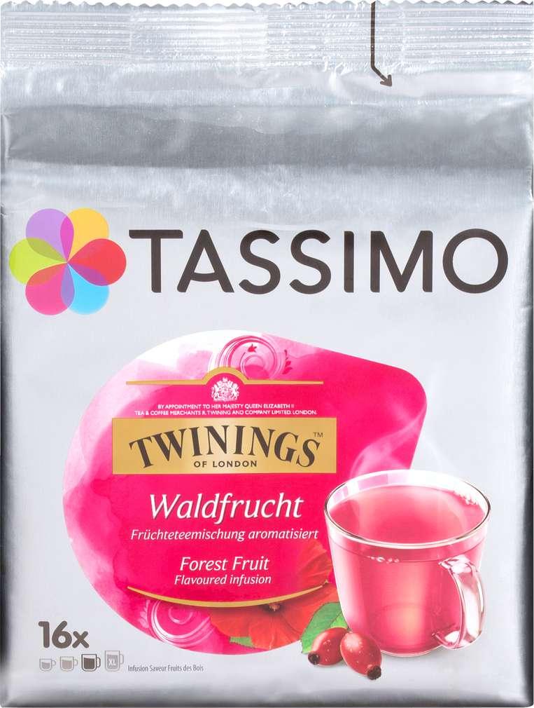Abbildung des Sortimentsartikels Jacobs Tassimo Twinings Früchtetee Waldfrucht 44,8g, 16 Kapseln