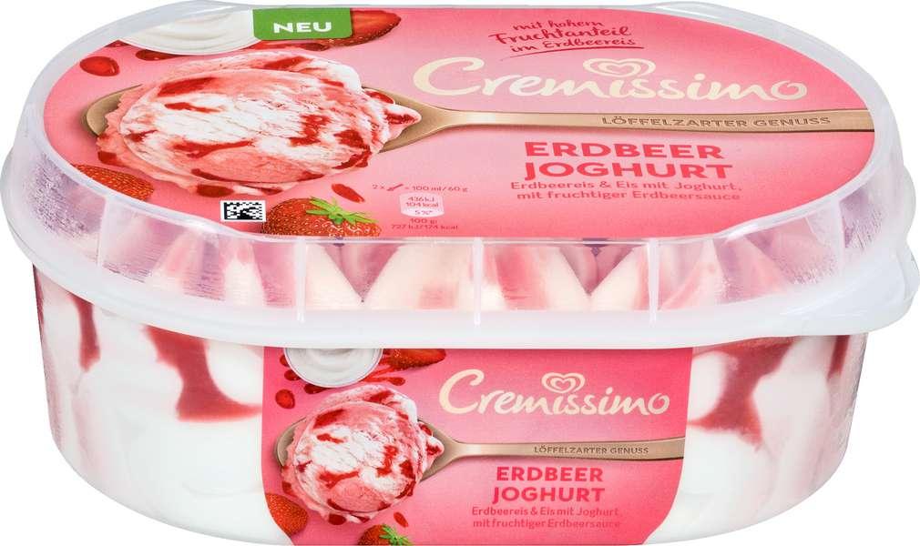 Abbildung des Sortimentsartikels Langnese Cremissimo Erdbeer Joghurt 900ml
