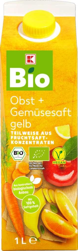 Abbildung des Sortimentsartikels K-Bio Obst + Gemüsesaft gelb 1l