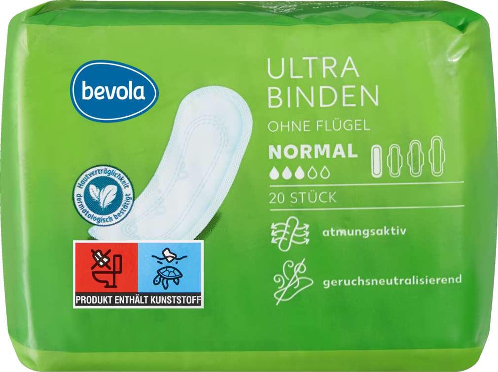 Abbildung des Sortimentsartikels Bevola Ultrabinden Normal 20Stück