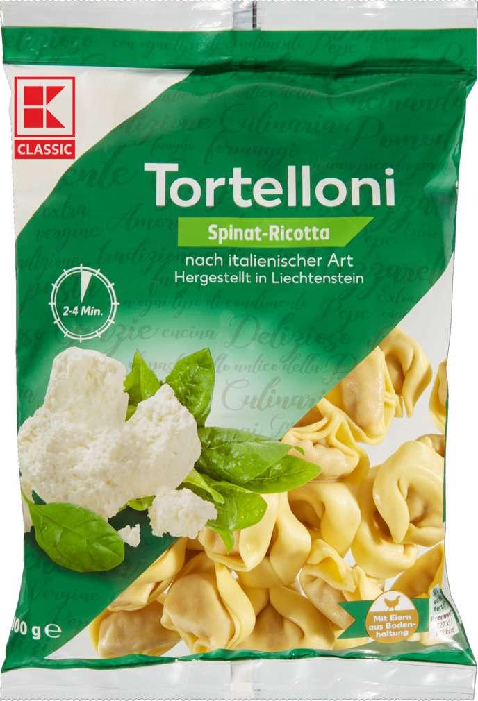Abbildung des Sortimentsartikels K-Classic Spinat-Ricotta-Tortelloni 400g