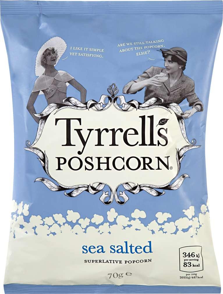 Abbildung des Sortimentsartikels Tyrrell's Poshcorn Sea salted 70g