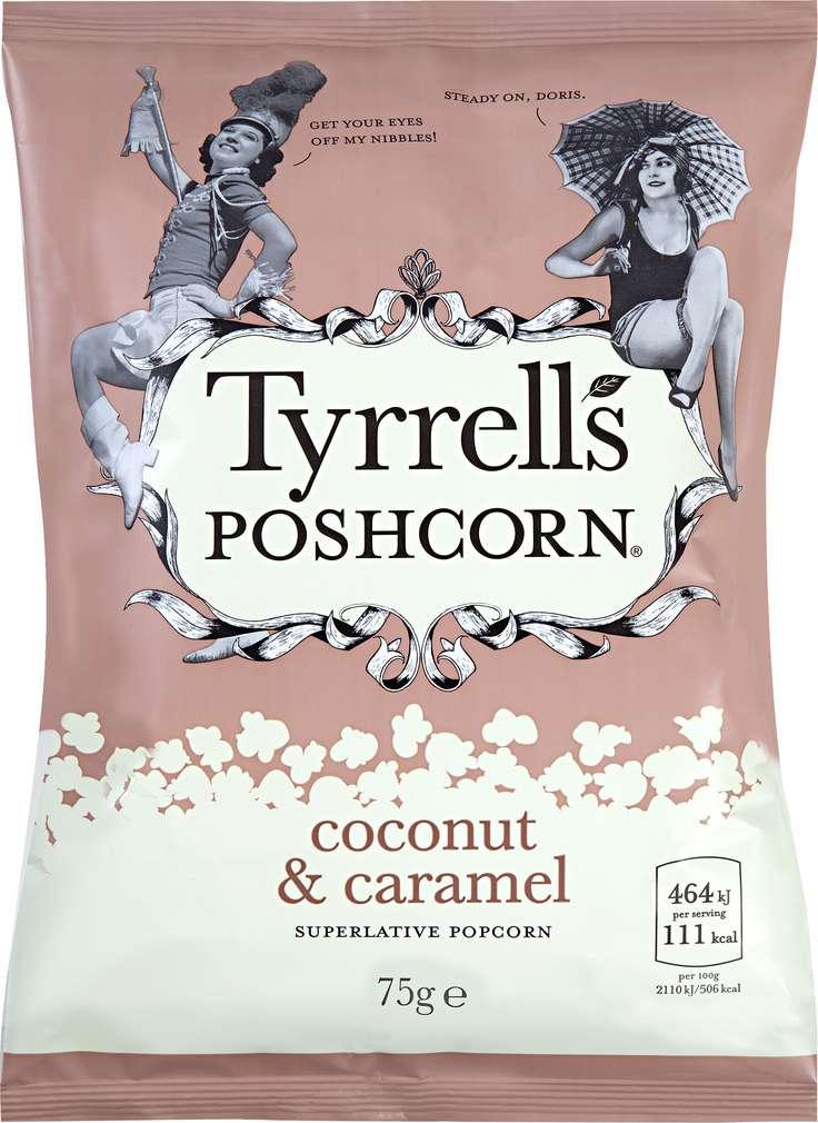 Abbildung des Sortimentsartikels Tyrrell's Poshcorn Coconut & Caramel 75g