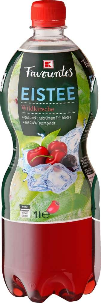 Abbildung des Sortimentsartikels K-Favourites Eistee Wildkirsche 6/1,0l