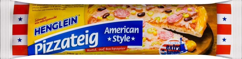 Abbildung des Sortimentsartikels Henglein Frischer Pizzateig American Style 380g