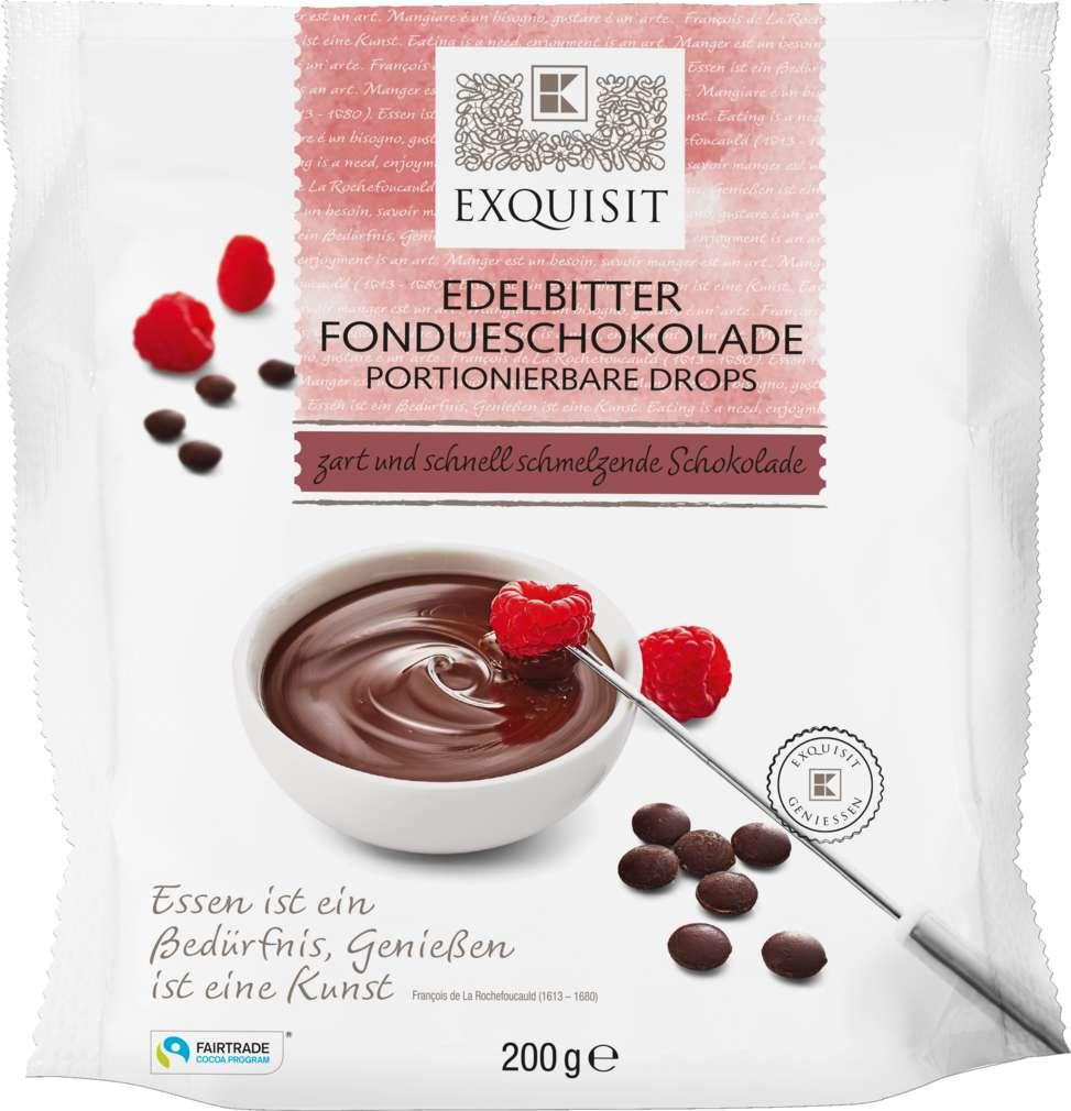 Abbildung des Sortimentsartikels Exquisit Fondueschokolade Zartbitter 200g