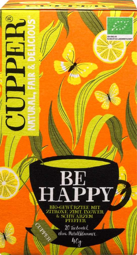 Abbildung des Sortimentsartikels Cupper Bio-Gewürztee Be Happy 40g