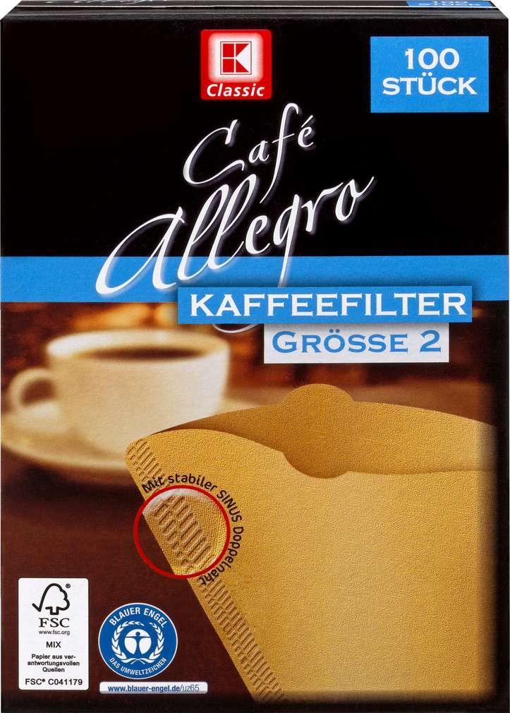 Abbildung des Sortimentsartikels K-Classic Kaffeefilter Größe 2 100 Stück