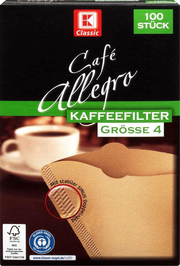 Abbildung des Sortimentsartikels K-Classic Kaffeefilter Größe 4 100 Stück