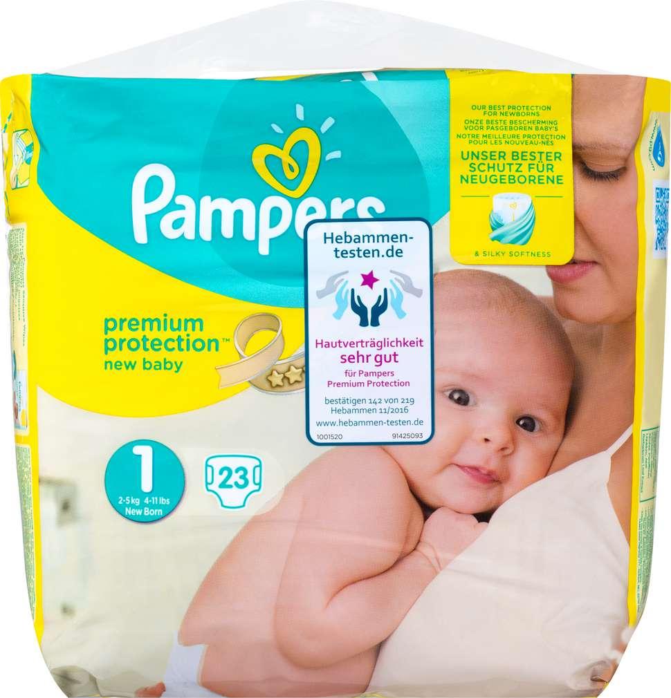 Abbildung des Sortimentsartikels Pampers Premium Protection New Baby Windeln Gr. 1 New Born 23 Stück