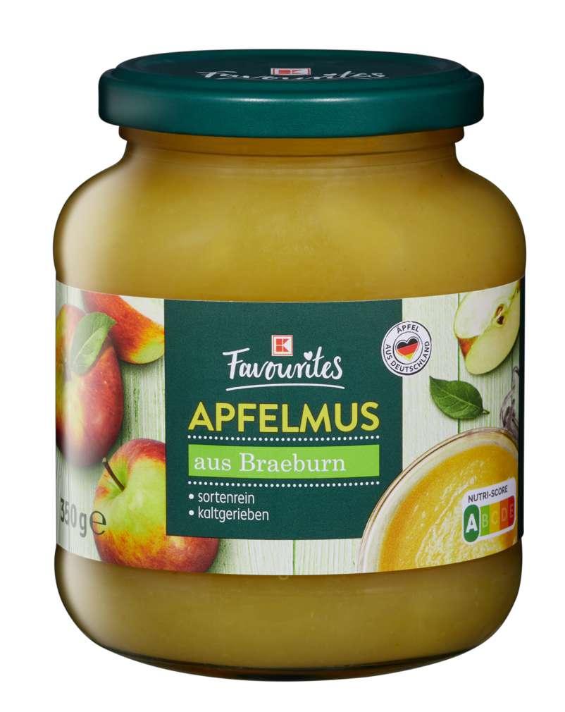 Abbildung des Sortimentsartikels K-Favourites Apfelmus Braeburn 350g