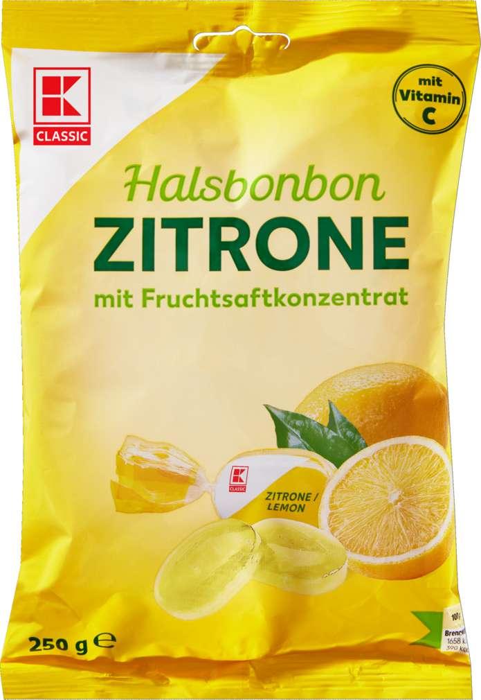 Abbildung des Sortimentsartikels K-Classic Halsbonbon Zitrone 250g