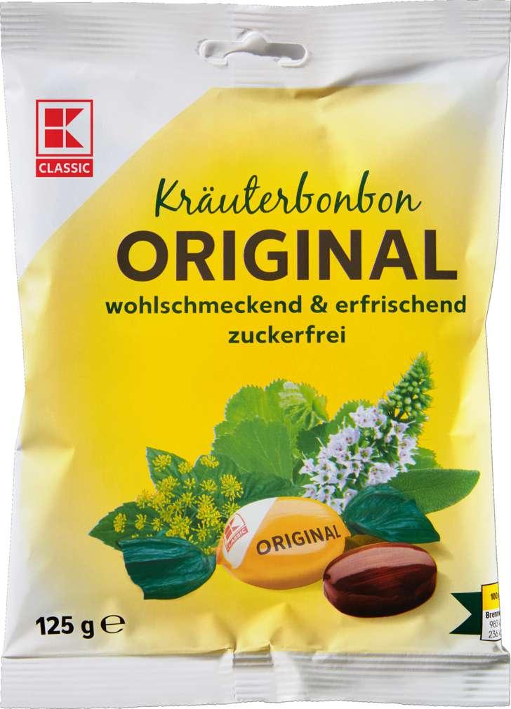 Abbildung des Sortimentsartikels K-Classic Kräuterbonbon Original, zuckerfrei 125g