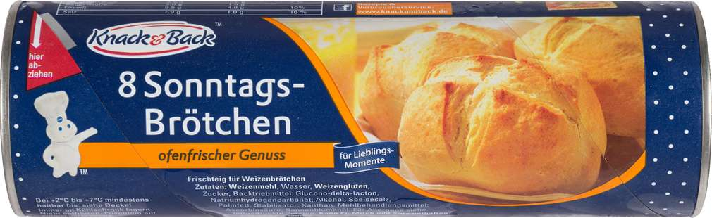 Abbildung des Sortimentsartikels Knack & Back 8 Sonntags-Brötchen 400g