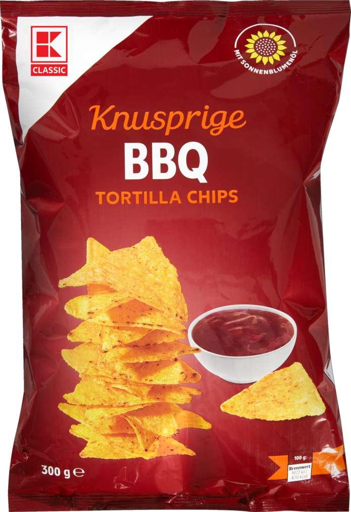 Abbildung des Sortimentsartikels K-Classic Tortilla Chips Barbecue 300g
