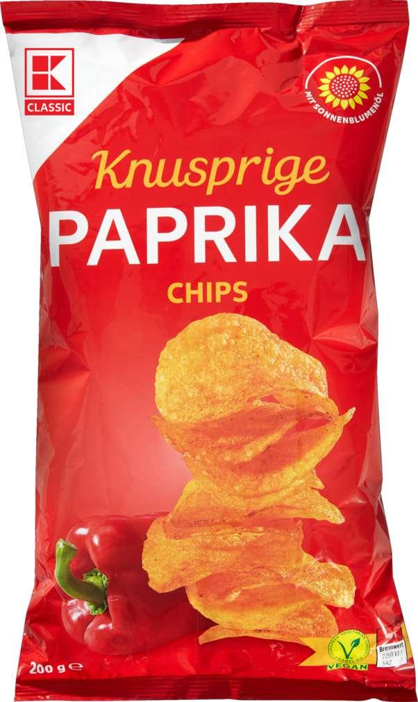 Abbildung des Sortimentsartikels K-Classic Kartoffelchips Paprika 200g