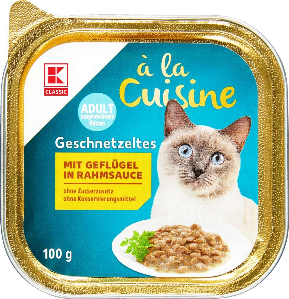 Abbildung des Sortimentsartikels K-Classic Katzennahrung Geflügel+Rahmsauce 100g