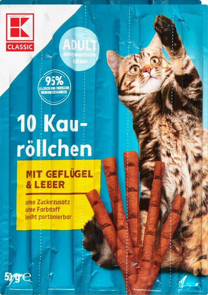 Abbildung des Sortimentsartikels K-Classic Katzensnack Geflügel & Leber 10x5g
