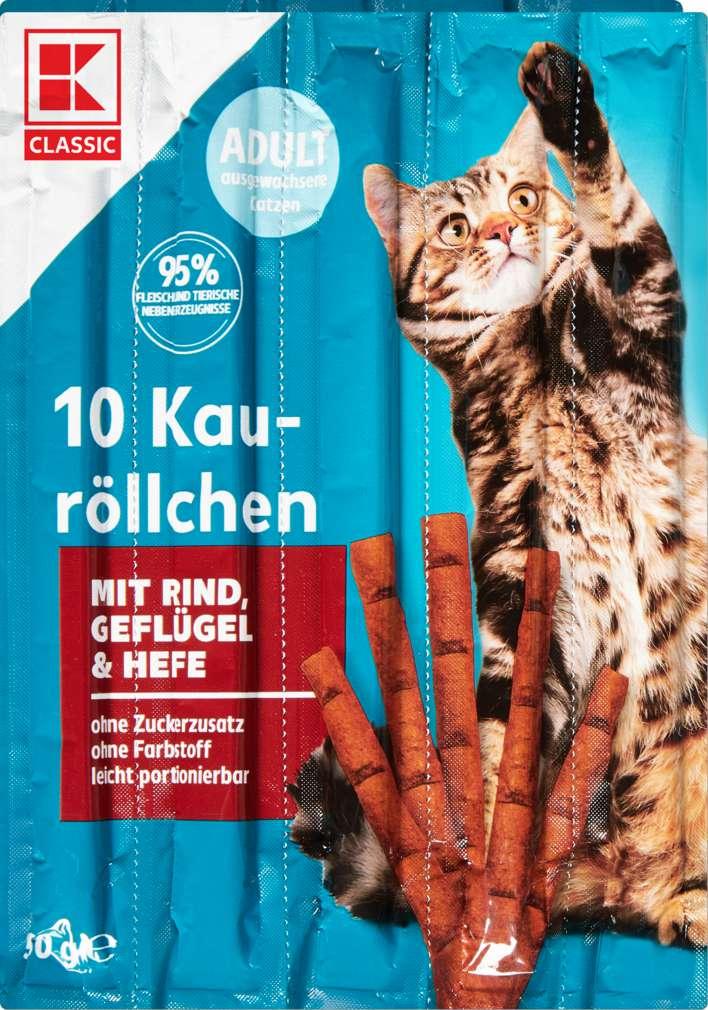 Abbildung des Sortimentsartikels K-Classic Katzensnack Kauröllchen Rind+Geflügel+Hefe 10x5g