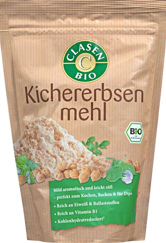 Abbildung des Sortimentsartikels Clasen Bio-Kichererbsenmehl vegan 300g