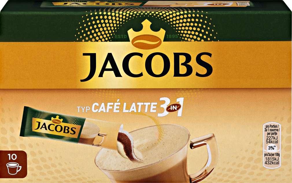 Abbildung des Sortimentsartikels Jacobs 3 in 1 Café Latte 10x12,5g